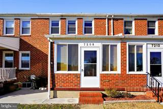 Townhouse for sale in 7208 BRIDGEWOOD DRIVE, Dundalk, MD, 21224