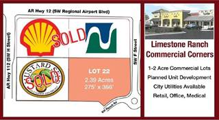 Comm/Ind for sale in 0  SW Regional Airport  BLVD, Bentonville, AR, 72712