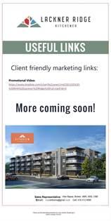 Condominium for sale in 1101 Lackner Blvd / Ottawa Street N, Kitchener, Kitchener, Ontario, N2H 0E8