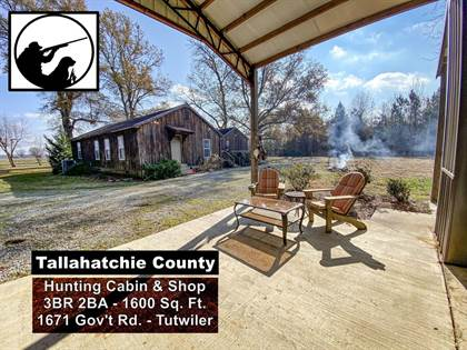 Residential Property for sale in 1671 Government Rd - Tutwiler - Tallahatchie County, Tutwiler, MS, 38963