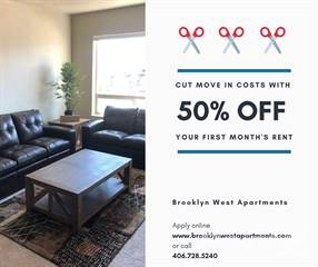 Apartment for rent in Brooklyn West Apartments, Missoula, MT, 59808