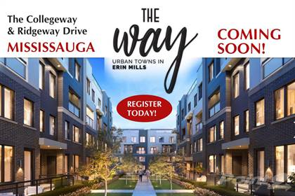 Residential Property for sale in New  Townhomes Mississauga - The Collegeway & Ridgeway, Mississauga, Ontario, L5L 5T3