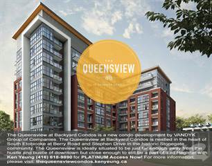 Condo for sale in The Queensview at Backyard Condos, Toronto, Ontario