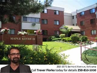 Condo for sale in 202-1075 Bernard Avenue, Kelowna, British Columbia, V1Y 6P7