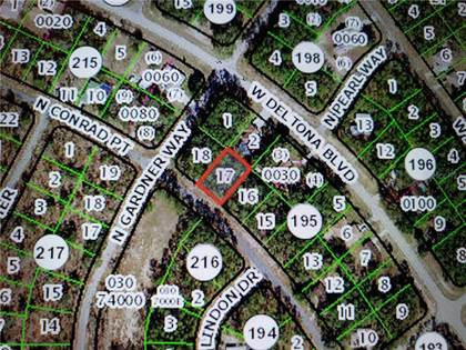 Lots And Land for sale in 10139 N CONRAD POINT, Citrus Springs, FL, 34434