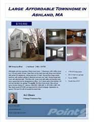 Condo for sale in 289 America Blvd, Ashland, MA, 01721
