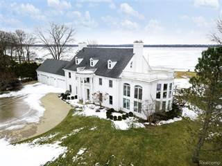Single Family for sale in 26505 EAST RIVER Road, Grosse Ile, MI, 48138