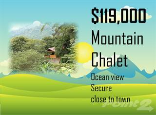 Residential Property for sale in Mountain Chalet With Fabulous Ocean Views 119,000, San Ramon, Alajuela