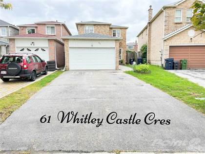 Residential Property for sale in 61 Whitley Castle Cres, Toronto, Ontario, M1V2P5