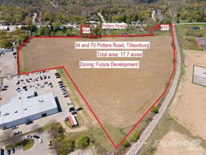 Lots And Land for sale in 34 and 70 Potters Road, Tillsonburg, Ontario, N4G 2G8