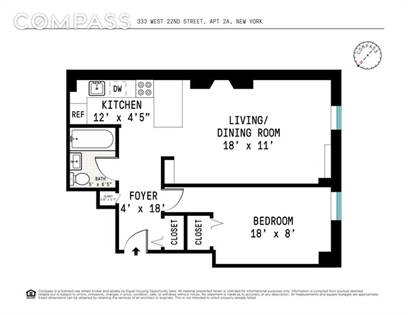 Residential Property for sale in 333 West 22nd Street 2A, Manhattan, NY, 10011