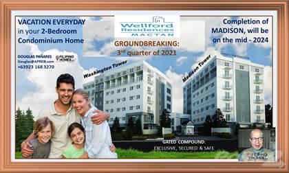 Condominium for sale in Two-Bedroom Condo: Vacation Every Day at Wellford Residences in Mactan Island, Cebu, Mactan Island, Cebu