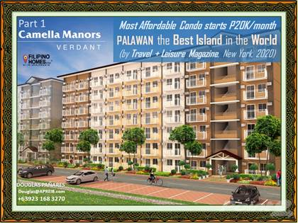 Condominium for sale in Most Affordable Residential condo In Palawan starts at P20K monthly at Puerto Princesa City, Puerto Princesa City, Palawan