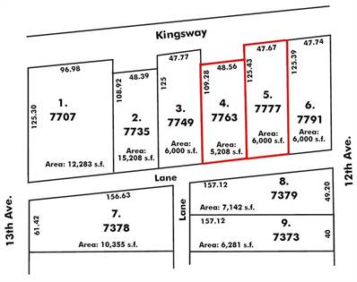 Vacant Land for sale in 7763-7777 KINGSWAY, Burnaby, British Columbia, V3N3C9