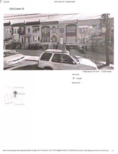 Multifamily for sale in 634 Coster  Coster Street, Bronx, NY, 10474