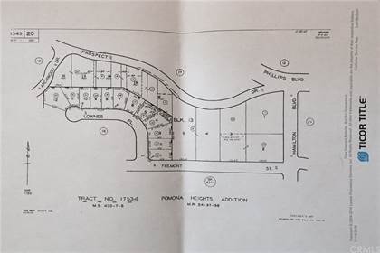 Lots And Land for sale in 1242 Prospect Drive, Pomona, CA, 91766