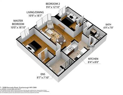 Condominium for sale in 3088 Kennedy Rd 1207, Toronto, Ontario, M1V5M4