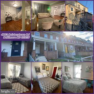 Residential Property for rent in 4802 REISTERSTOWN ROAD, Baltimore City, MD, 21215