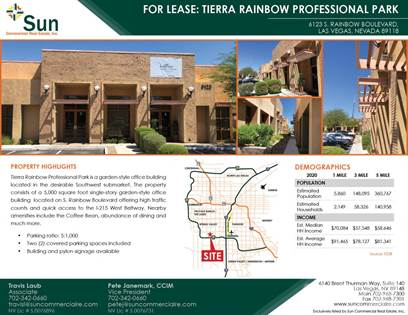 Office Space for rent in 6123 S Rainbow Boulevard, Las Vegas, NV, 89118