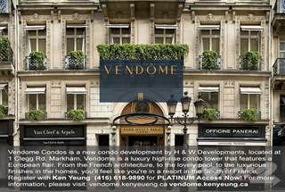 Condo for sale in Vendome Condos, Markham, Ontario