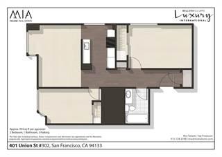 Condo for sale in 401 Union Street 302, San Francisco, CA, 94133