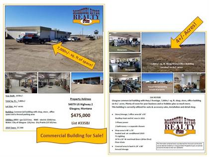 Commercial for sale in 54079 Highway 2, Glasgow, MT, 59230