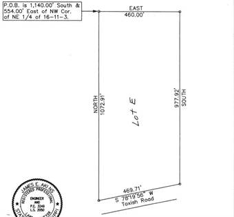 Lots And Land for sale in Lot E Toxish (10.83 ac) Road, Pontotoc, MS, 38863