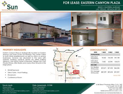 Office Space for rent in 8525 South Eastern Avenue, Las Vegas, NV, 89123