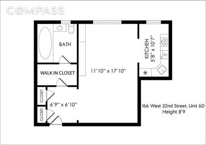 Residential Property for sale in 166 West 22nd Street 6D, Manhattan, NY, 10011