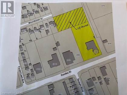 Vacant Land for sale in 2060 DUNDAS (REAR - 1.7 AC) STREET, London, Ontario, N5V1R2