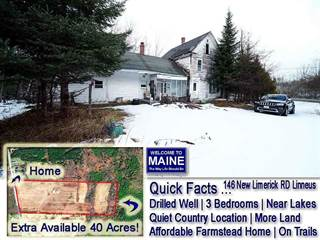 Single Family for rent in 146 New Limerick Road, Linneus, ME, 04730