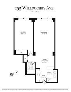 Residential Property for sale in 195 Willoughby Avenue 1214, Brooklyn, NY, 11205