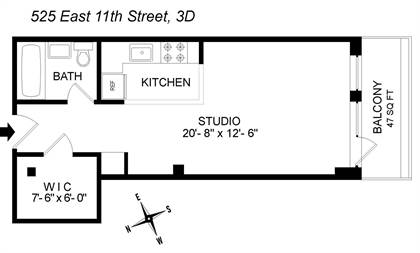 Residential Property for sale in 525 E 11th St 3D, Manhattan, NY, 10009