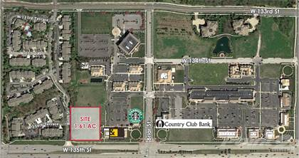Land for sale in 13480 Briar Street, Leawood, KS, 66209