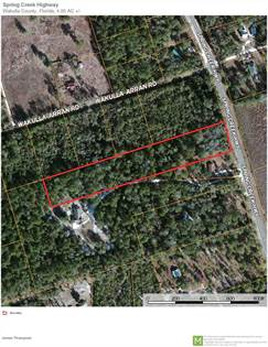 Lots And Land for sale in XXX SPRING CREEK, Crawfordville, FL, 32327