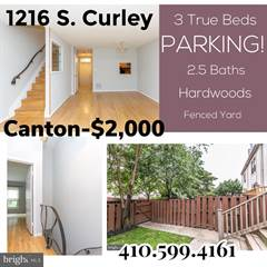 Townhouse for rent in 1216 S CURLEY STREET, Baltimore City, MD, 21224
