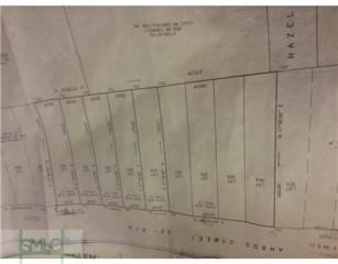 Land for sale in 0 Hazel Street, Savannah, GA, 31404