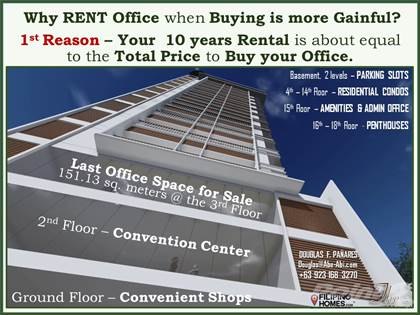 Condominium for sale in Why Rent when you can Buy Office Space at Trillium Residences at Molave Street, Kamputhaw, Cebu City, Cebu City, Cebu