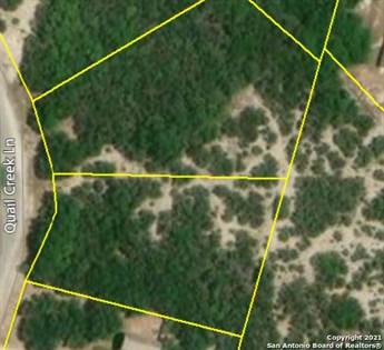 Lots And Land for sale in Lot 7 & 8 QUAIL CREEK LN, Lakehills, TX, 78063