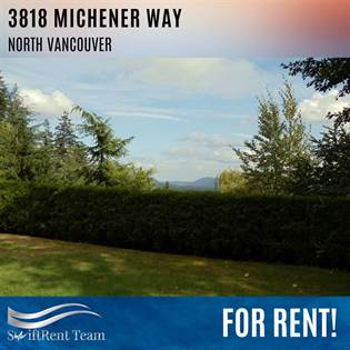 Single Family for rent in 3818 MICHENER WAY, North Vancouver, British Columbia, V7K3C7