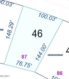 Lots And Land for sale in Lot 87 Crooked Stick Dr, Diamondhead, MS, 39525