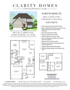 Residential for sale in 6013 El Campo, Fort Worth, TX, 76107