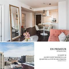 Condo for sale in 635 Rue St-Maurice 1102, Montreal, Quebec