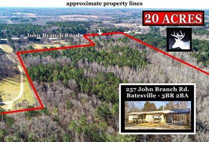 Residential Property for sale in 257 John Branch Road, Batesville, MS, 38606
