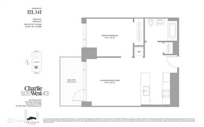 Residential Property for sale in 505 W 43rd 14J, Manhattan, NY, 10036