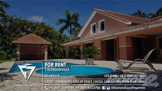 Residential Property for rent in A very spacious 5 bedroom villa located in a sought after gated beach front community, Cabarete, Puerto Plata