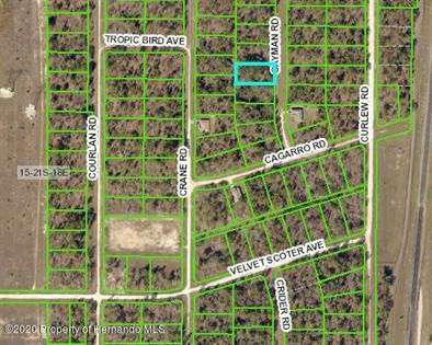 Lots And Land for sale in 16403 Cayman Road, Weeki Wachee, FL, 34614