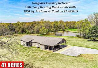 Single Family for sale in 1504 Tony Keating Road, Batesville, MS, 38606