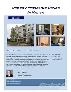 Condominium for sale in 17 Morgan Drive # 202, Natick, MA, 01760