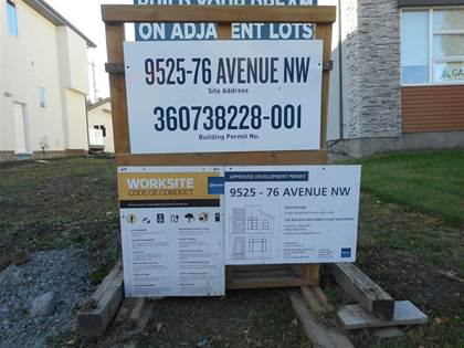 Vacant Land for sale in 9525 76 AV NW, Edmonton, Alberta, T6C0K1